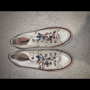 Low top converse with personalized laces